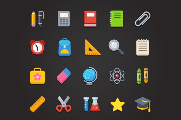 School Icons Pattern