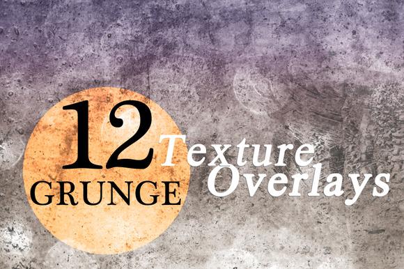 12 Grunge Texture Overlays