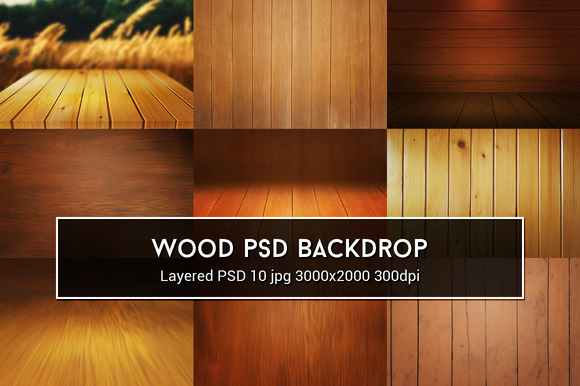 Wood PSD Backdrop
