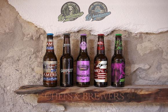 Beer Bottle Wood Shelf Mockup