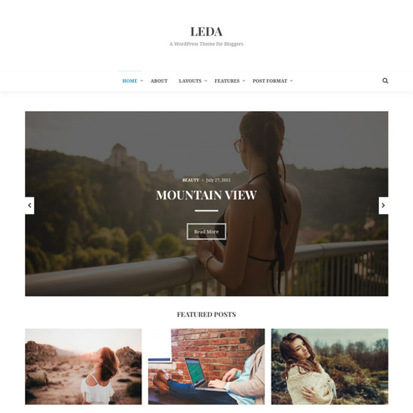 Leda WordPress Blogging Theme