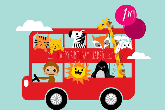 Birthday Bus Vector