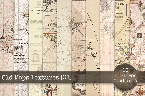 Old Maps Textures Set 01