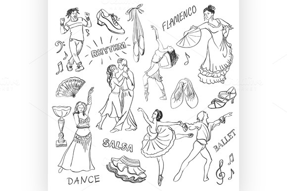Hand Drawn Dance Collection