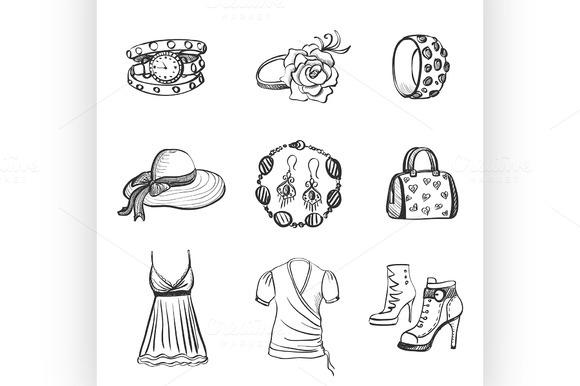 Hand Drawn Fashion Icons