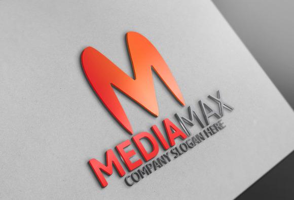 Media Max M Letter Logo