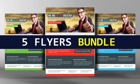 5 Cool Business FLyers Bundle