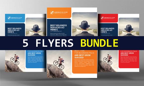 5 Global Business Flyers Bundle