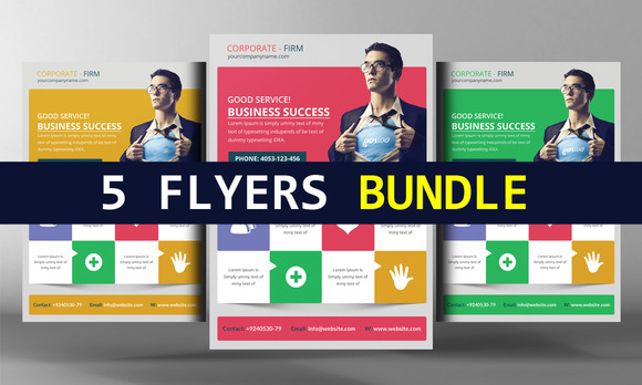 5 Business Consulting Flyers Bundle