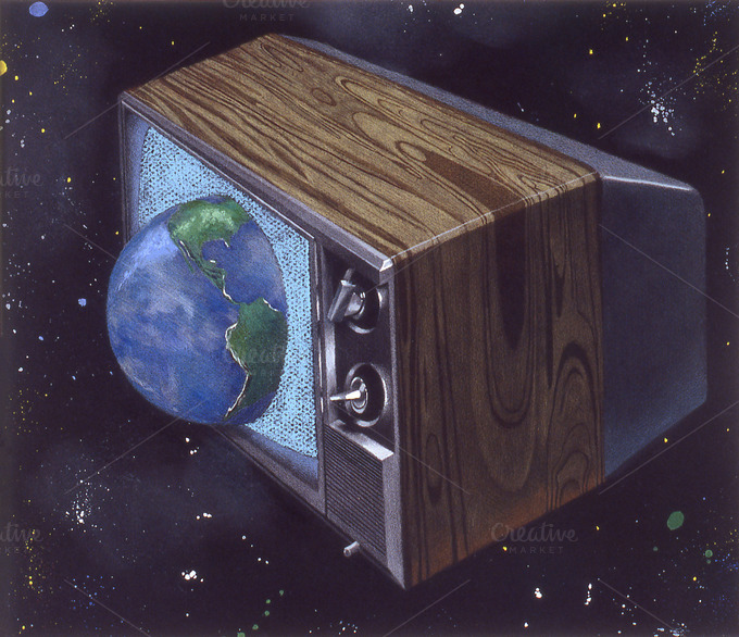 TV Takeover Handmade Illustration