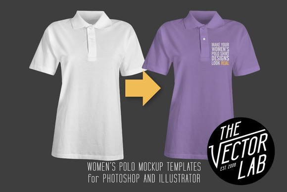 Women S Polo Shirt Mockup Templates