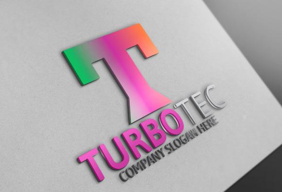 Turbo Tec T Letter Logo