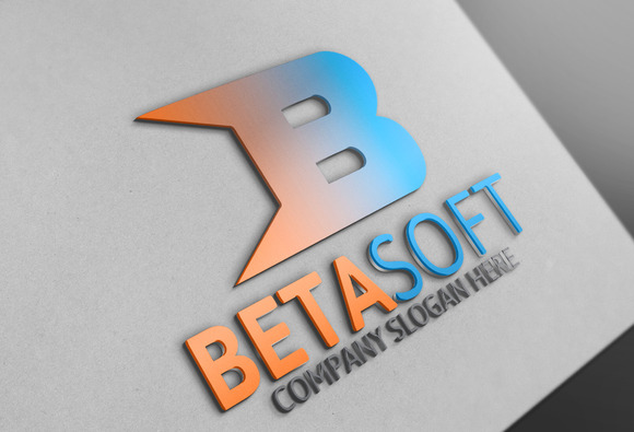 Beta Soft B Letter Logo