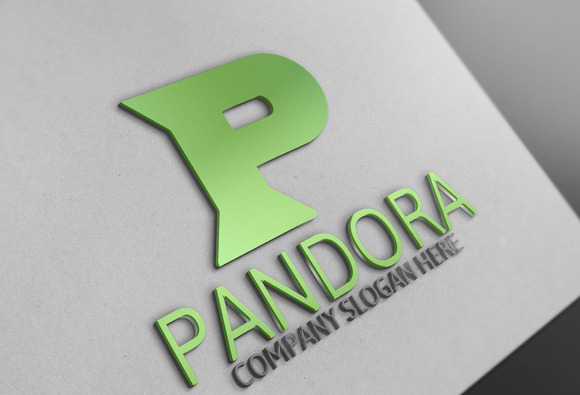Pandora P Letter Logo