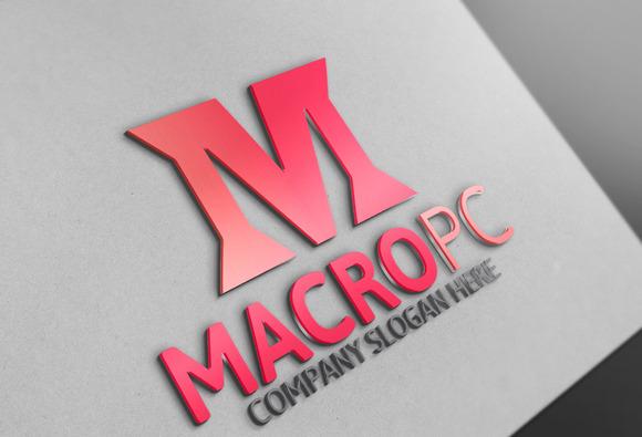 Macro Pc M Letter Logo