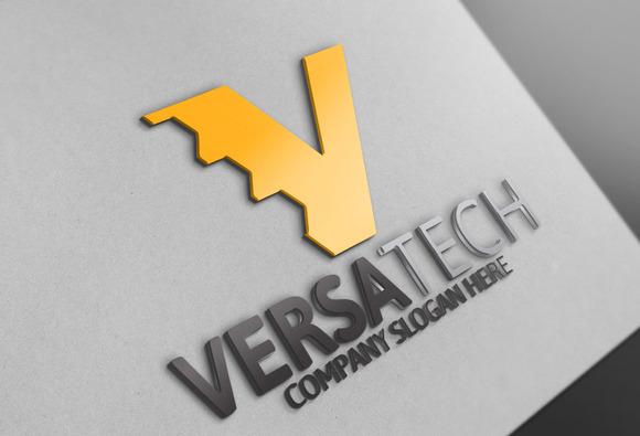 Versatech V Letter Logo