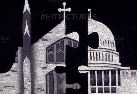Church State Handmade Illustration