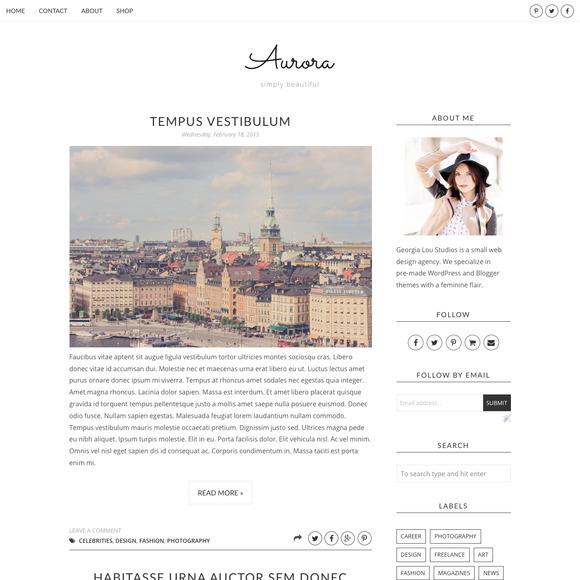 Blogger Template Responsive Aurora