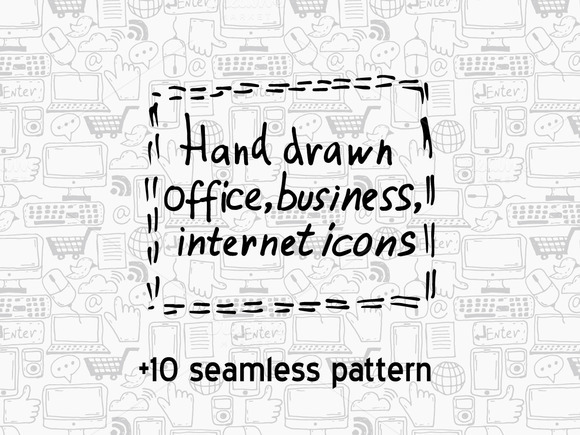 Hand Drawn Icons Patterns
