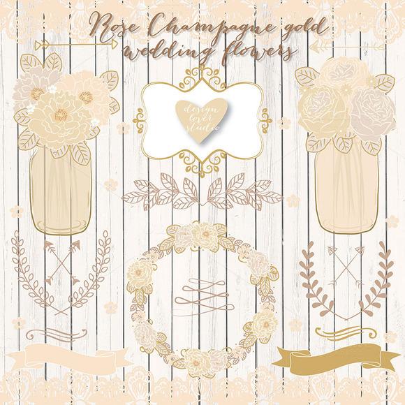 Vector Champgne Wedding