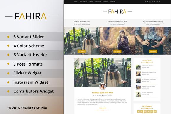 Fahira Wordpress Personal Blog