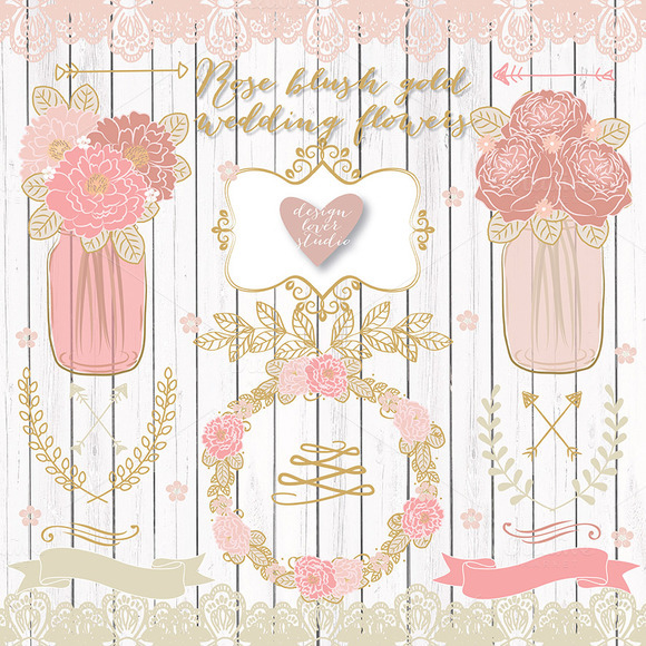 Vector Rose Blush Wedding