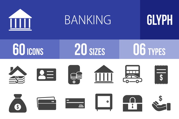 60 Banking Glyph Icons