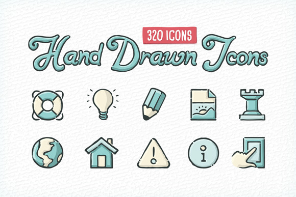 Hand Drawn Icons Mega Pack