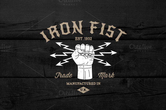 Vintage Label Iron Fist