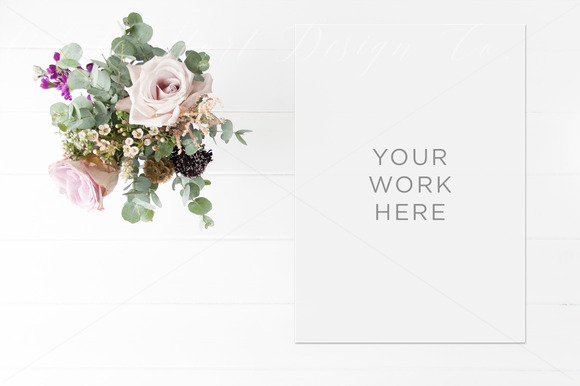 Desktop Styled Floral Stock Photo