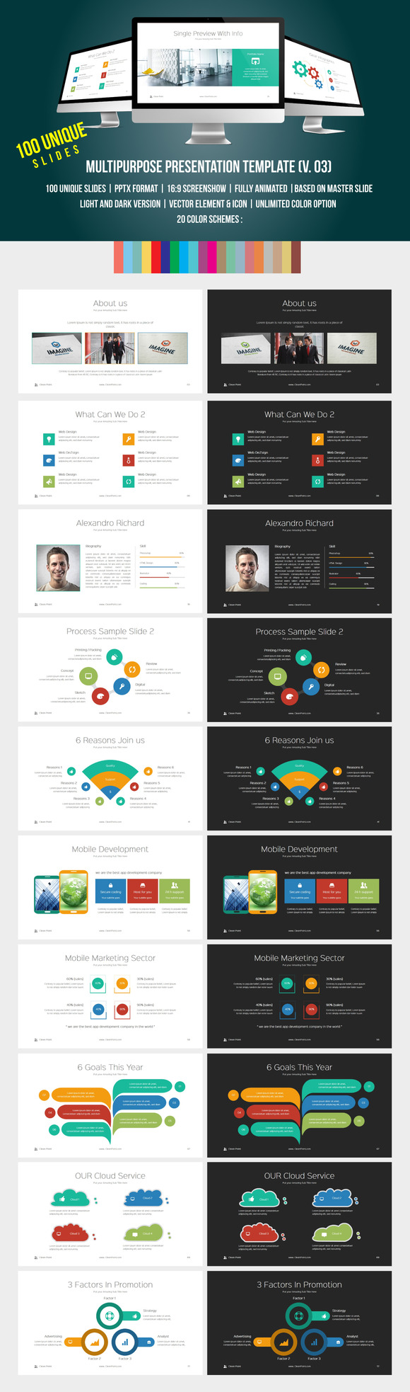 Multipurpose PowerPoint Template 03