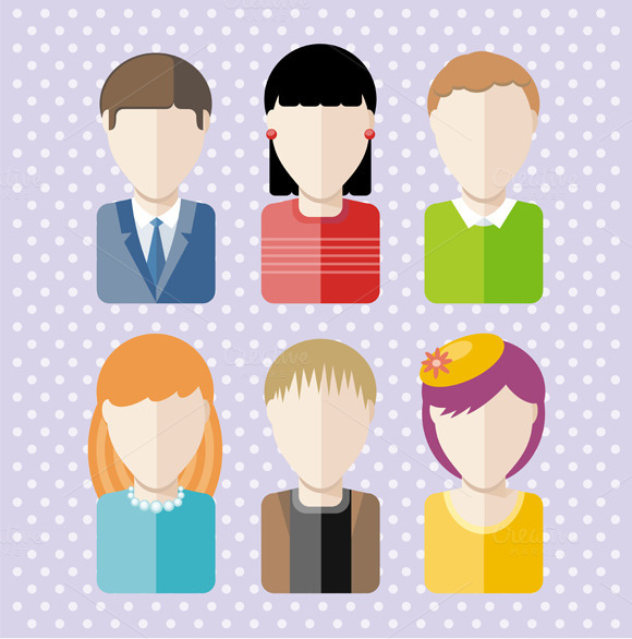 Characters Silhouettes People