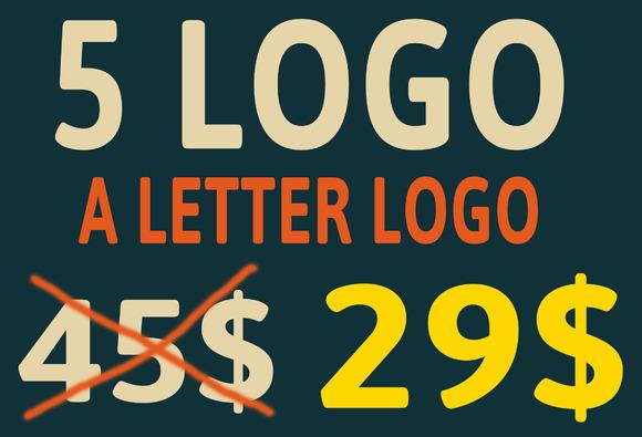 5 Bundle A Letter Logo