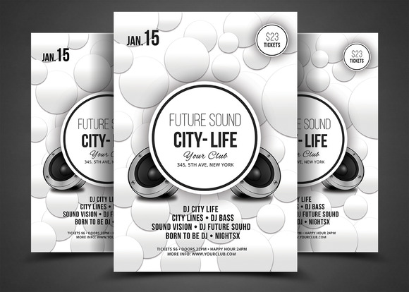 Futuristic Festival Concert Flyer