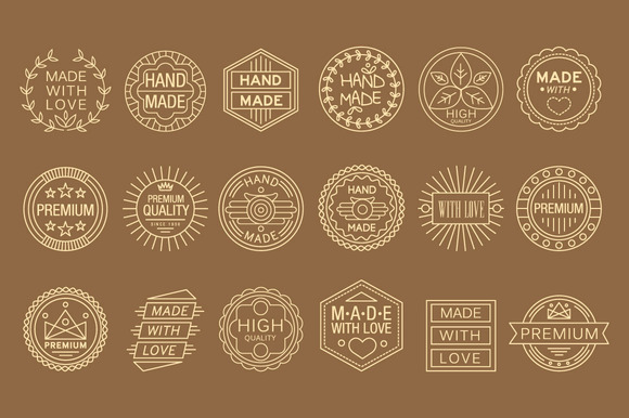 Hand Made Lable Vintage Elements
