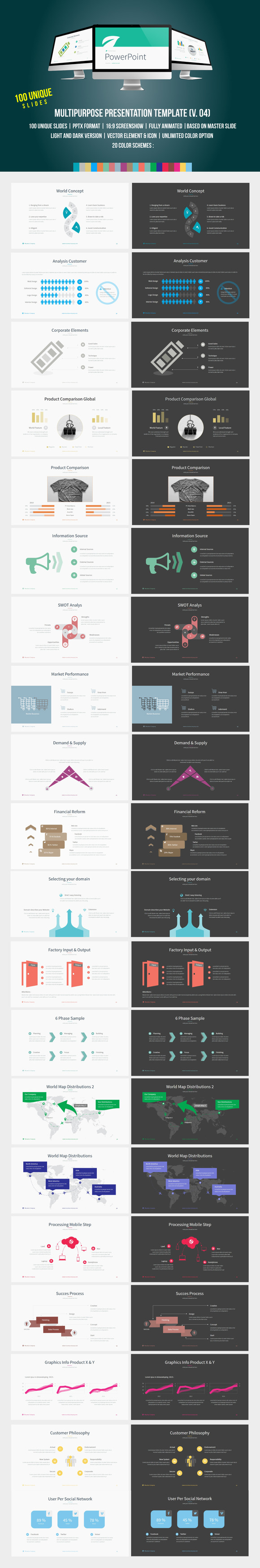 Multipurpose PowerPoint Template 04