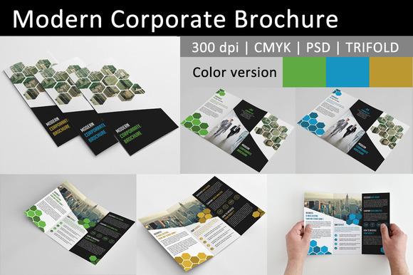 Modern Corporate Brochure 3color