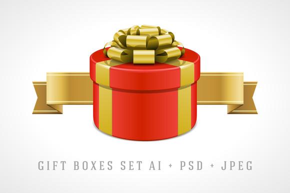Gift Boxes Illustration Set