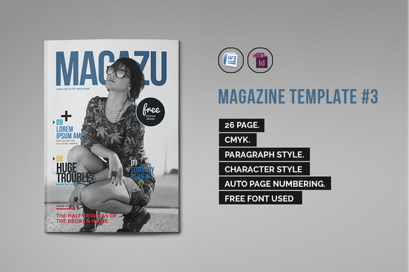 Indesign Magazine Template #3