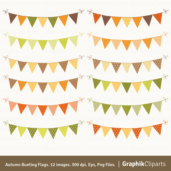 Autumn Bunting Flags