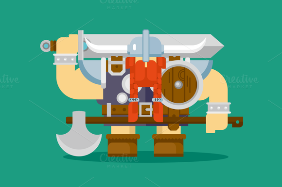 Isolated Viking Character