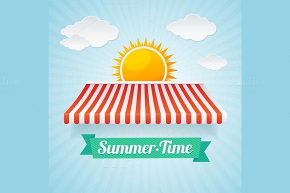 Vector Summertime Card