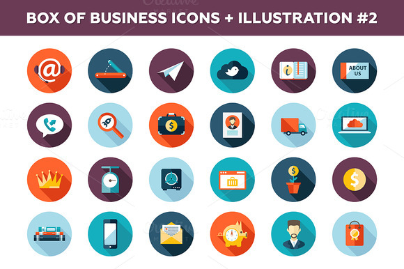 25 Business Icons Box-2
