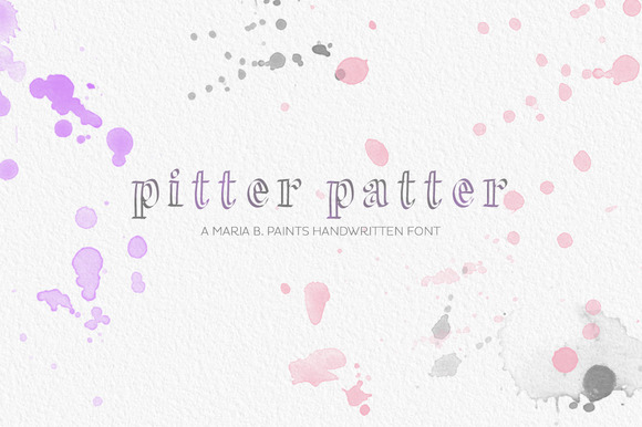 Handwritten Font Pitter Patter