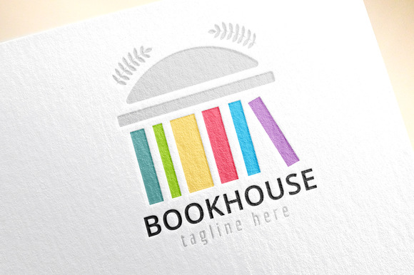 Book Building Template Logo Icon
