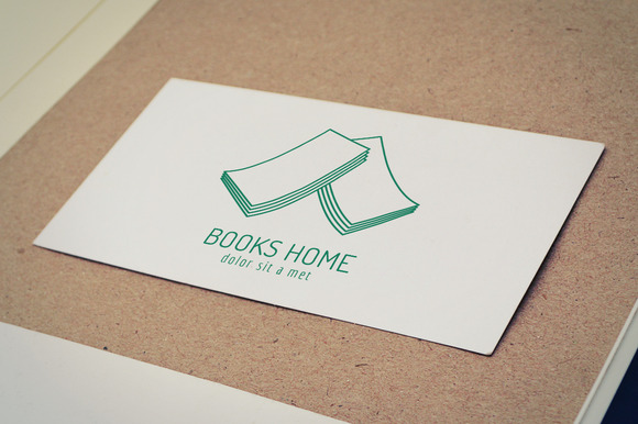 Book House Roof Template Logo Icon