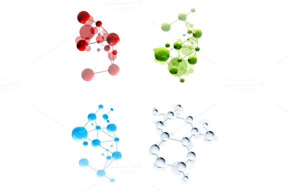 Molecules Vector Icons