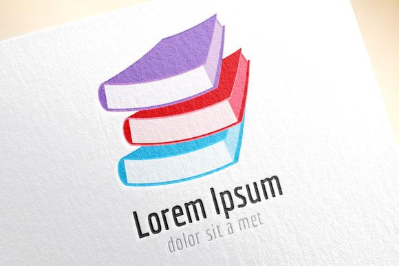 Book Color Stack Template Logo Icon