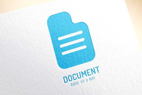 Abstract Document Template Logo Icon