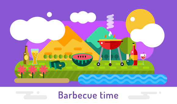 Barbecue And Food Icons Vector Set
